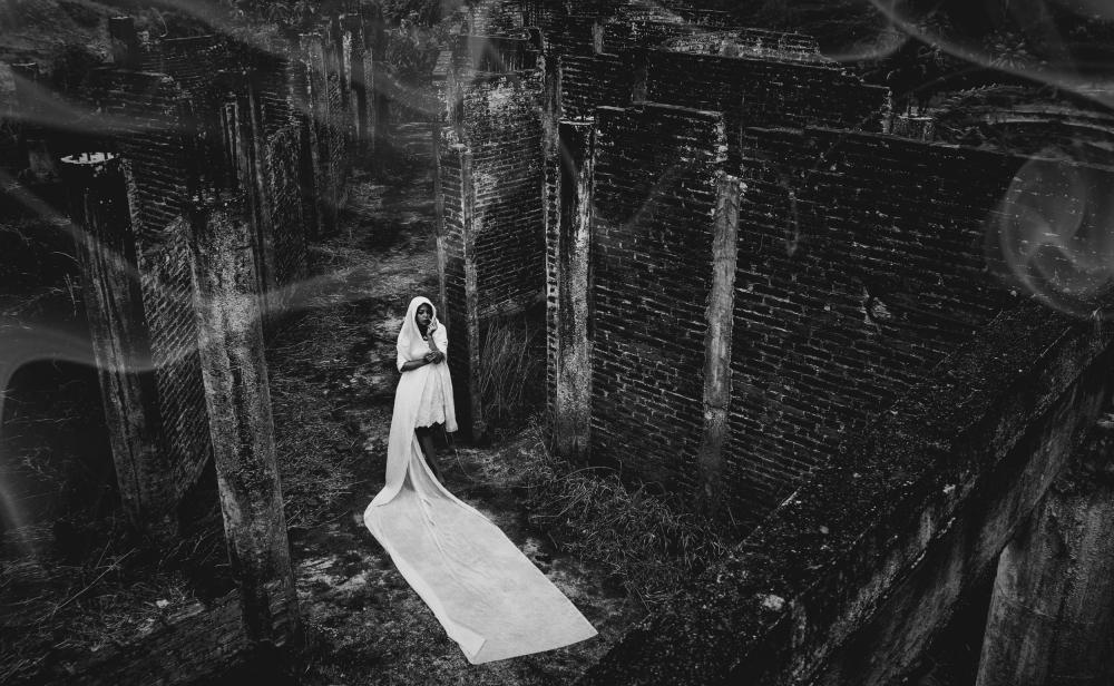 A piece of fine art art photography titled Galau by Rzlan Ramdani