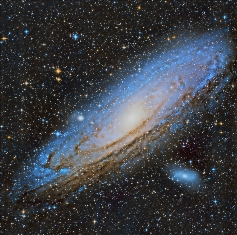 A piece of fine art art photography titled M31 Andromeda Galaxy by Álvaro Pérez & Jose M. Pérez. Brothers