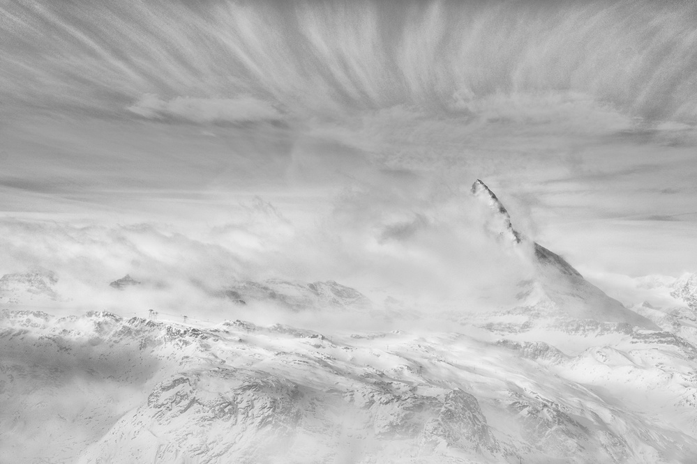 A piece of fine art art photography titled Releasing from Clouds by Peter Svoboda, MQEP