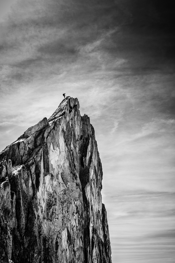 A piece of fine art art photography titled Balancing Between Earth and Sky by Thomas Vuillaume