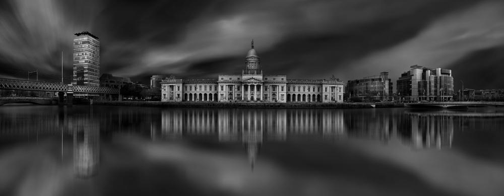 A piece of fine art art photography titled The Custome House - Dublin by Hugo Borges