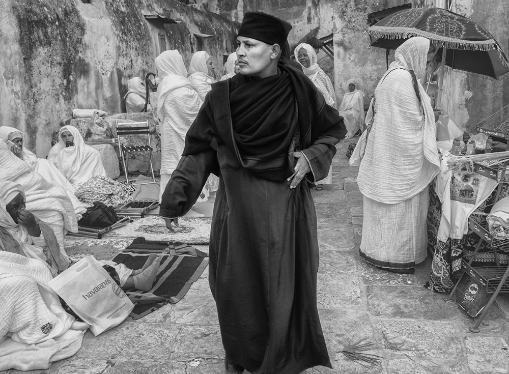 A piece of fine art art photography titled Holy Fire Ceremony Jerusalem 2017 by Orna Naor