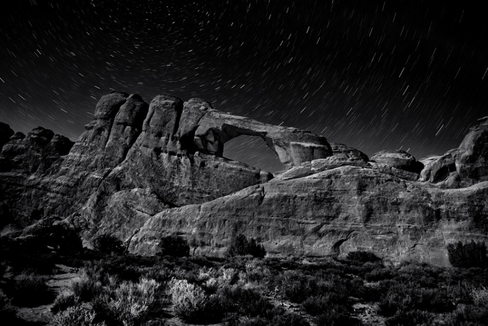 A piece of fine art art photography titled Skyline Arch by James Fitzgerald
