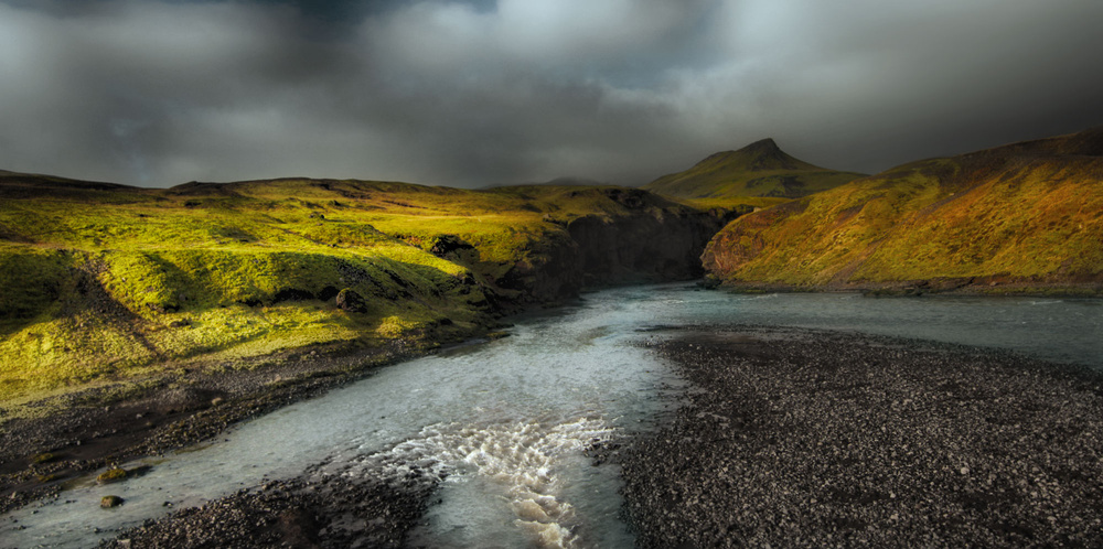 A piece of fine art art photography titled Crossing Iceland by Amador Funes
