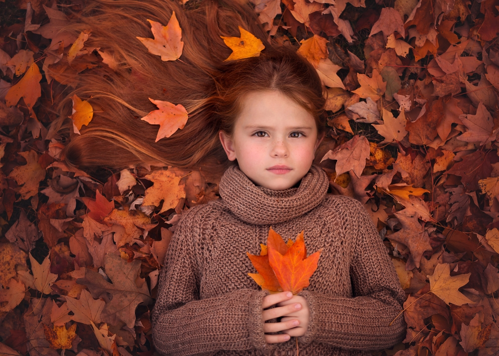 A piece of fine art art photography titled Autumn Song by Lisa Holloway