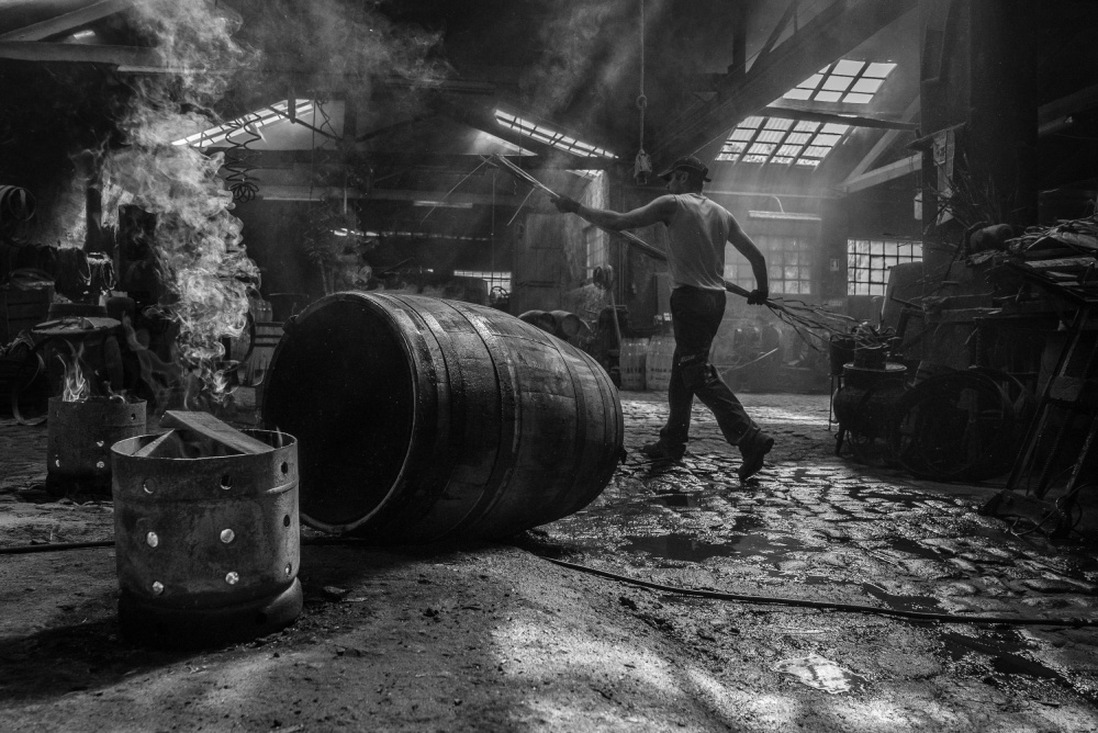 A piece of fine art art photography titled Tanoaria/cooperage by José Fangueiro