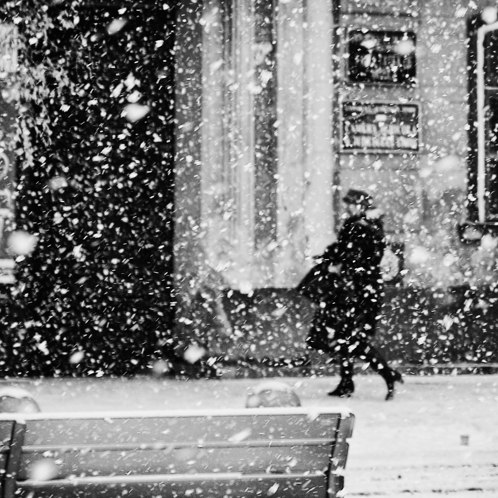 A piece of fine art art photography titled Snowfall by Marchevca Bogdan