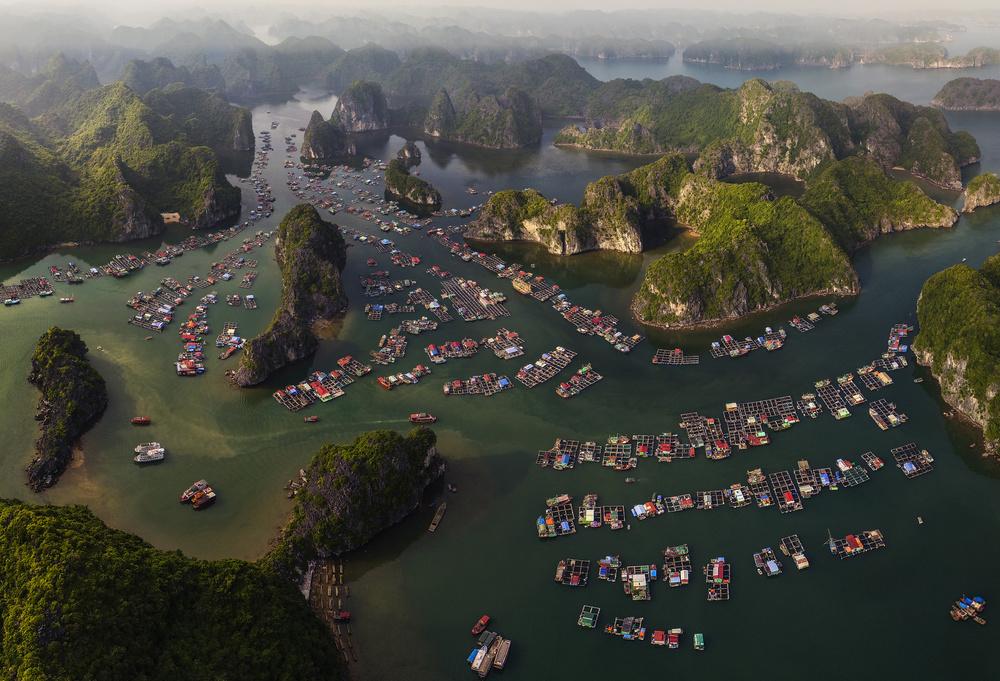 A piece of fine art art photography titled CatBa Island by Đào Tấn Phát