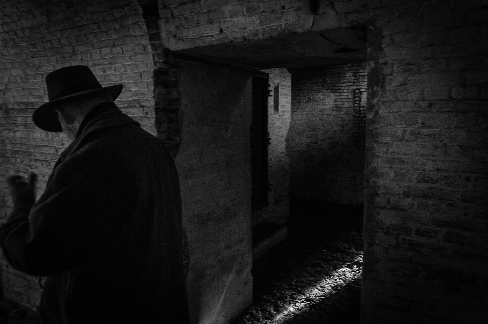 A piece of fine art art photography titled Stranger In the Dark by Eddy Verloes