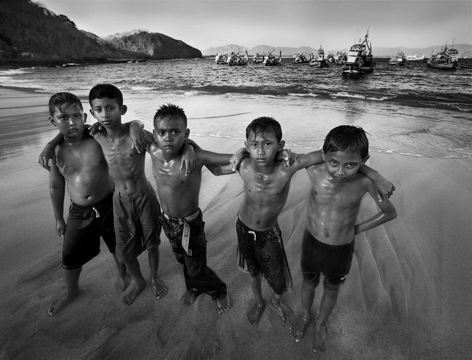 A piece of fine art art photography titled The Beach Gang by Sebastian Kisworo