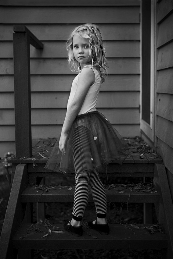 A piece of fine art art photography titled Ballerina Girl by Geoff Powell
