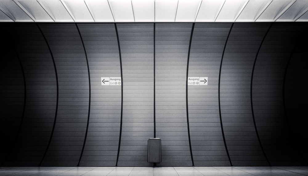 A piece of fine art art photography titled Exit? by Andreas Paehge