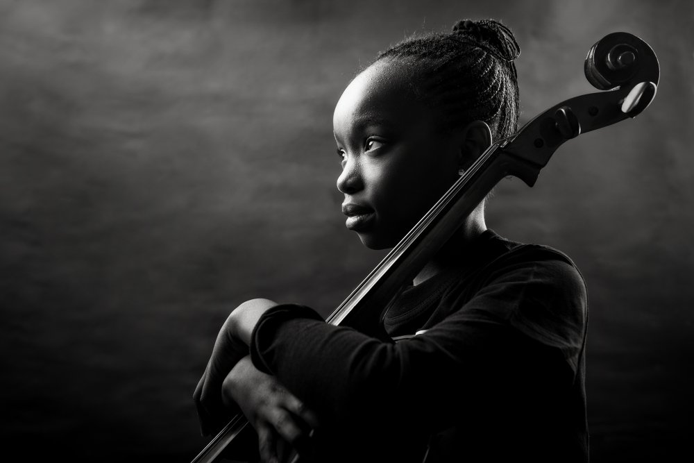 A piece of fine art art photography titled I Love My Cello by Graham De Lacy