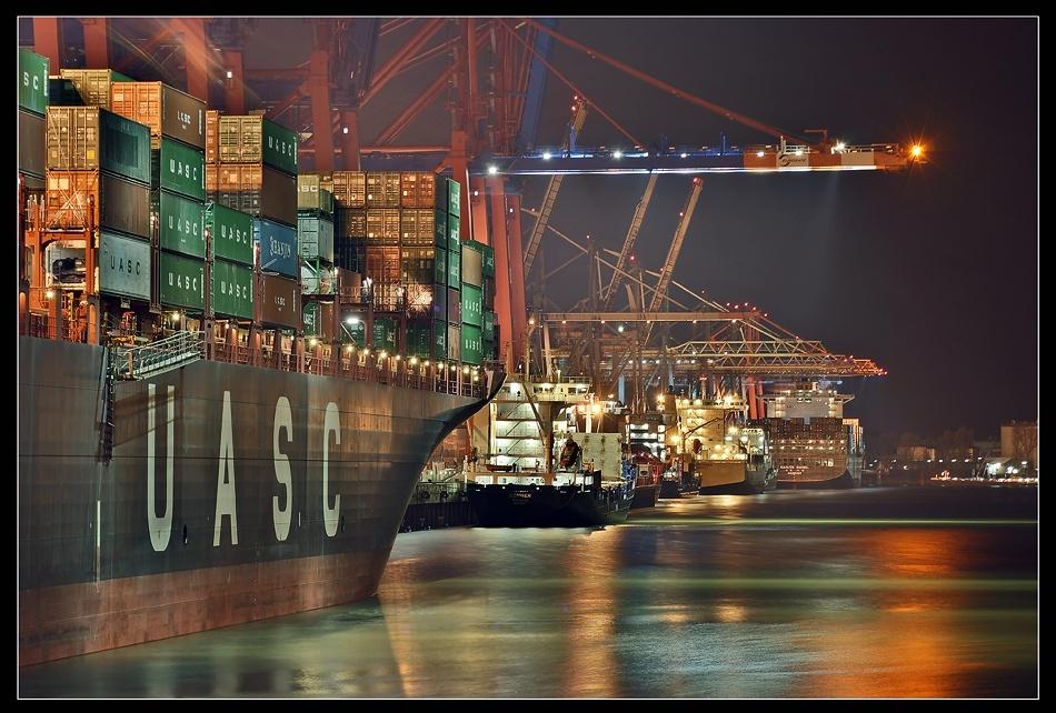 A piece of fine art art photography titled Many Ships by Jens Kling