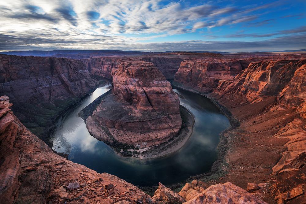 A piece of fine art art photography titled Power of Colorado River by Annie Poreider