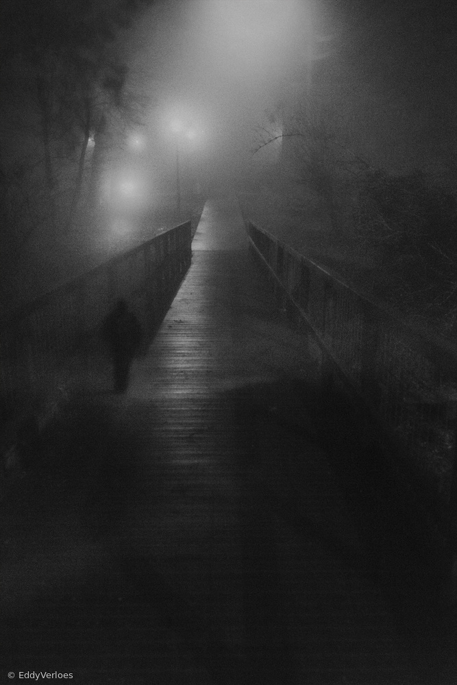 Mysterious man on the bridge
