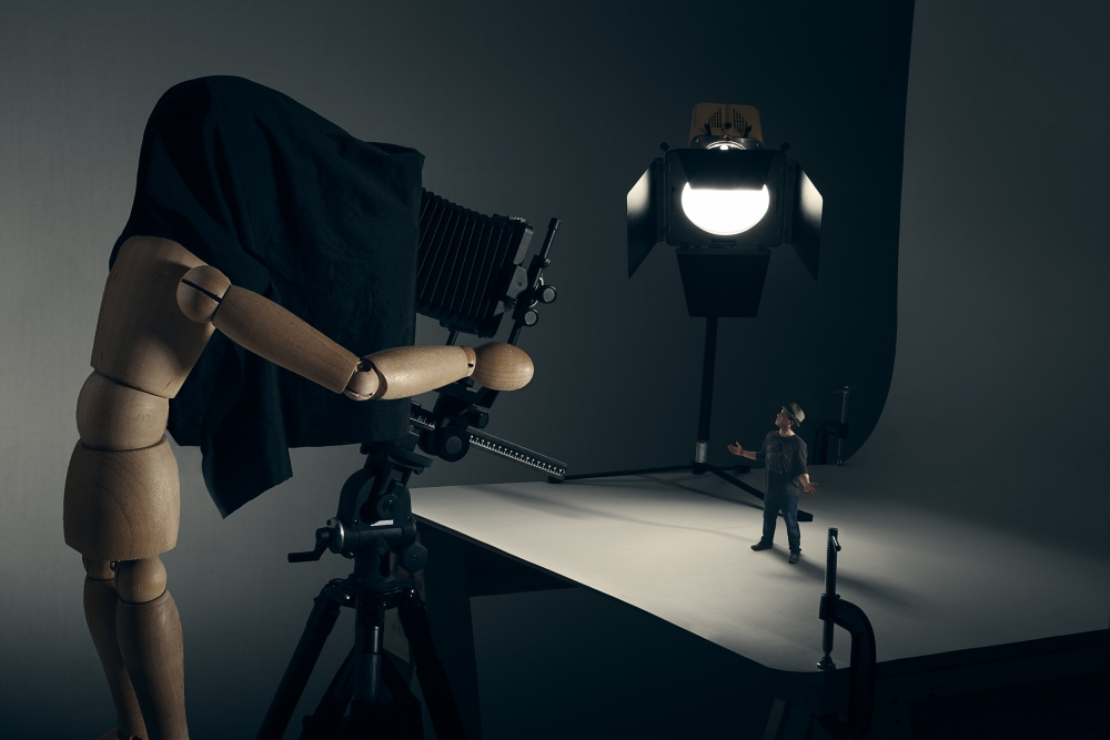 A piece of fine art art photography titled The Studio Portrait by Timothy Tichy