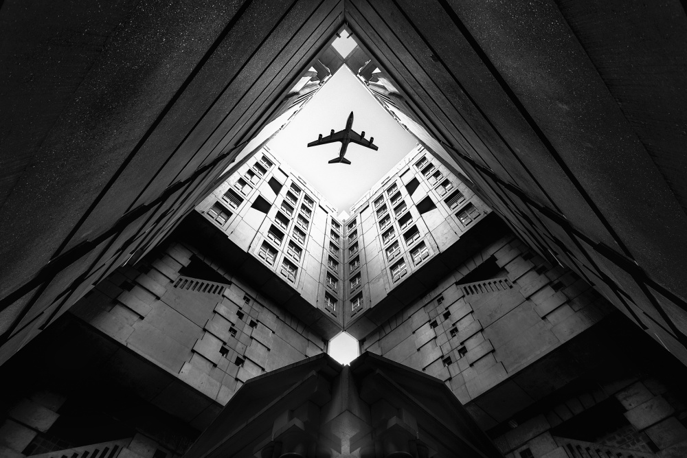 A piece of fine art art photography titled Plane City by Correy christophe