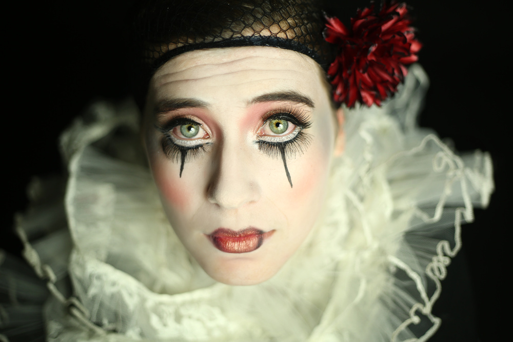 A piece of fine art art photography titled Pierrot by Osher Partovi