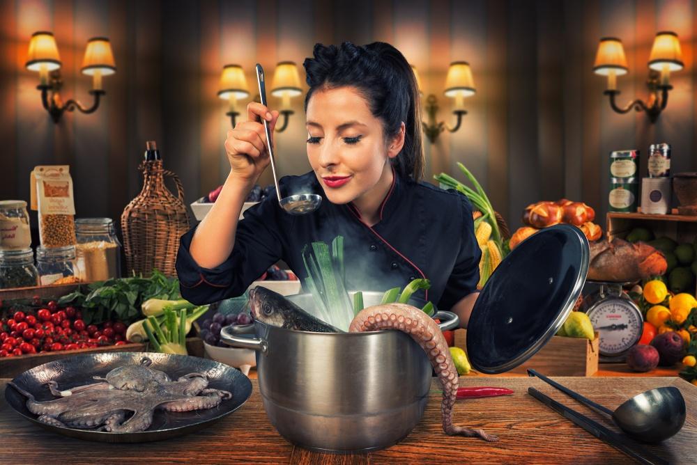 A piece of fine art art photography titled La Soupe Des Chefs by John Wilhelm