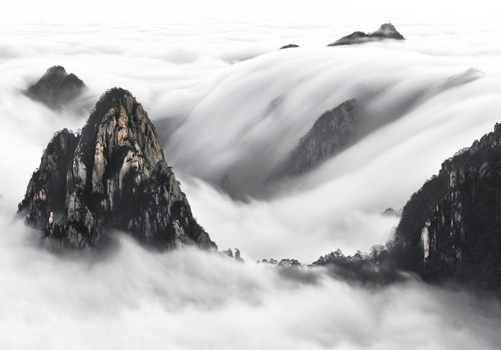 A piece of fine art art photography titled Cloudland by Thierry Bornier