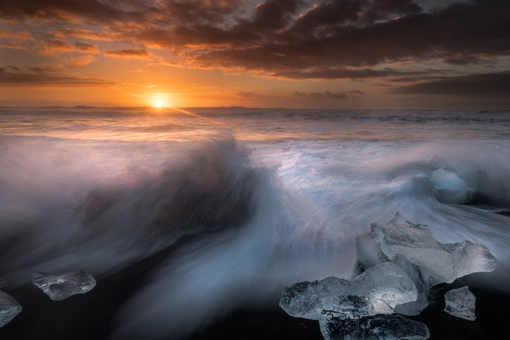 Dawn at Jokulsarlon