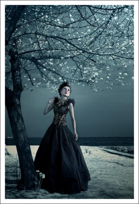 A piece of fine art art photography titled Darkness #2 by Wisnu Kusuma Wardhana