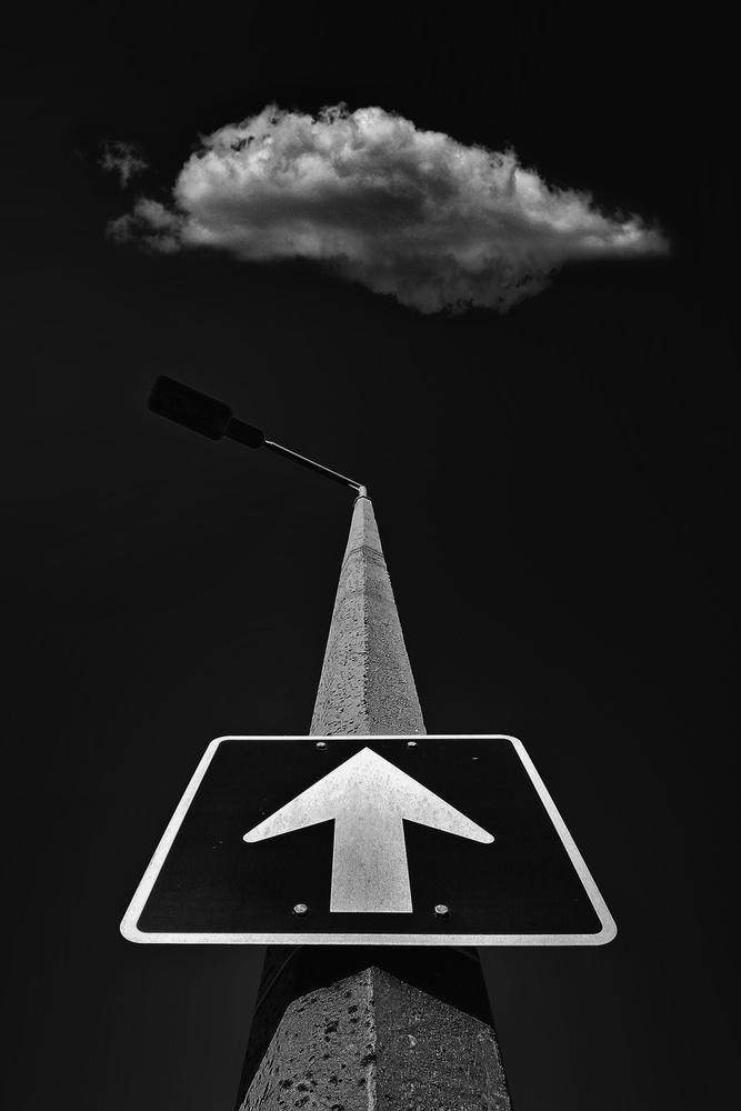 A piece of fine art art photography titled Up by István Mező