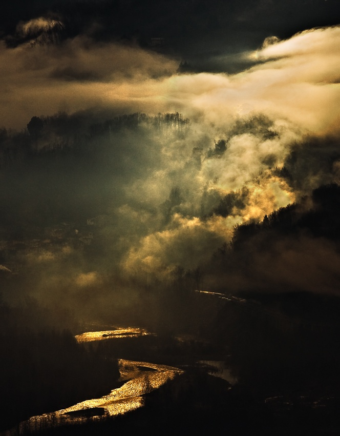A piece of fine art art photography titled The Golden River by andrea lorenzetti