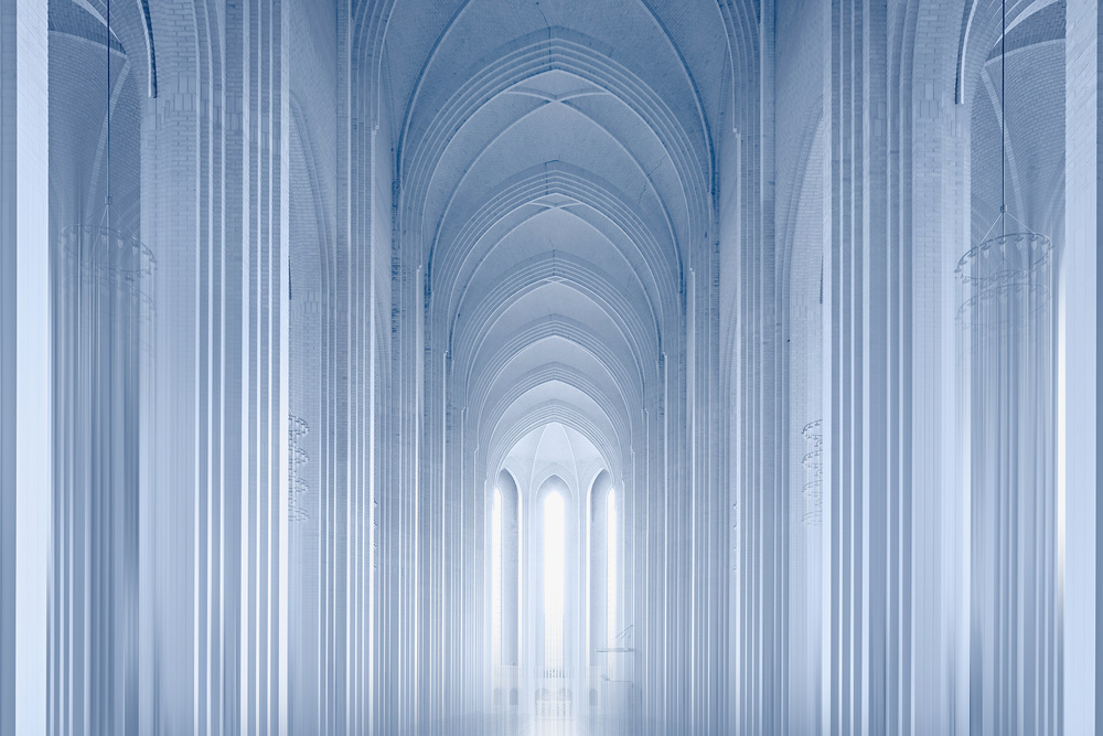 A piece of fine art art photography titled Paths to the Light by Erhard Batzdorf