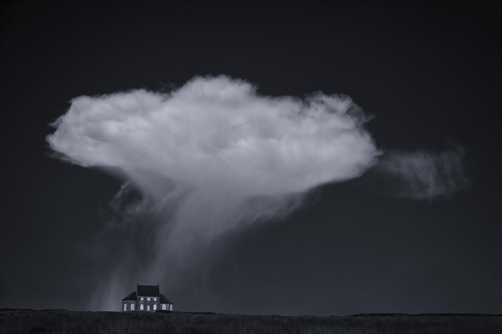 A piece of fine art art photography titled Under the Cloud by Uschi Hermann