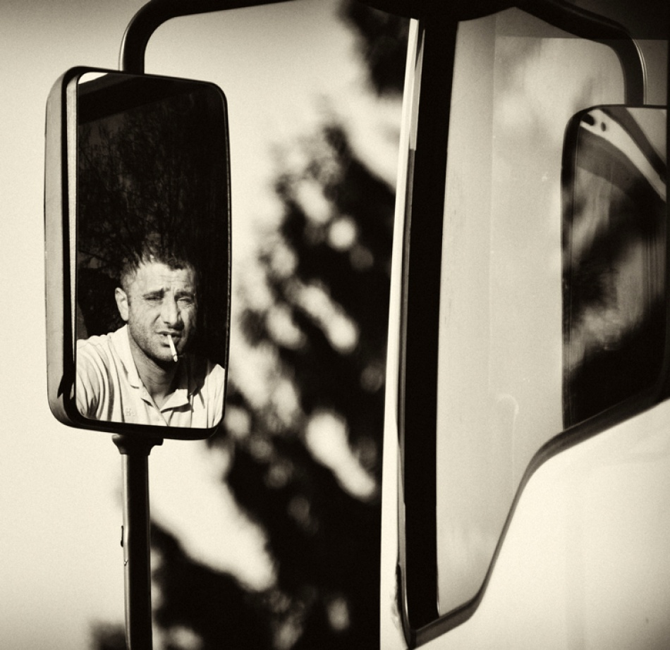 A piece of fine art art photography titled Mrtruck Driver by Barbara