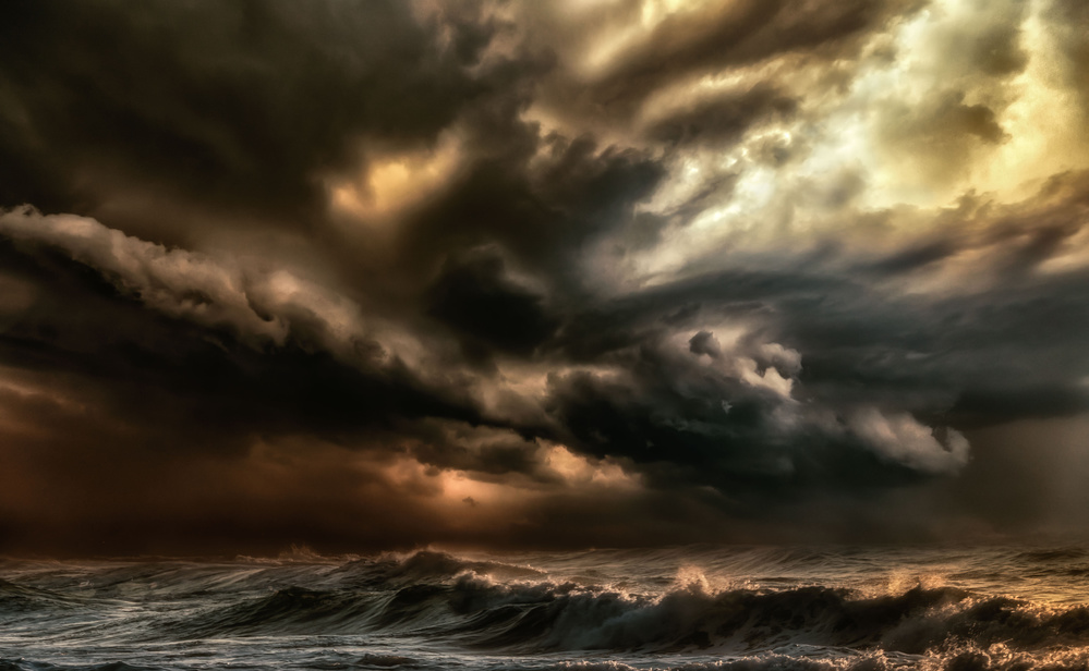 A piece of fine art art photography titled The Raging Tempest by Charlaine Gerber