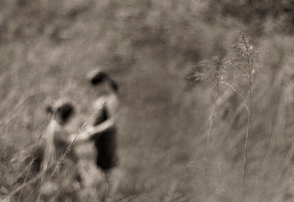A piece of fine art art photography titled Sisters On the Meadow by Monique