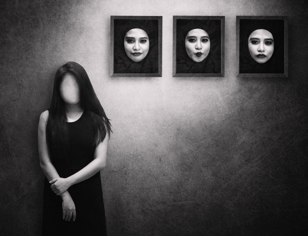 A piece of fine art art photography titled Daily Mask by Ivan Marlianto
