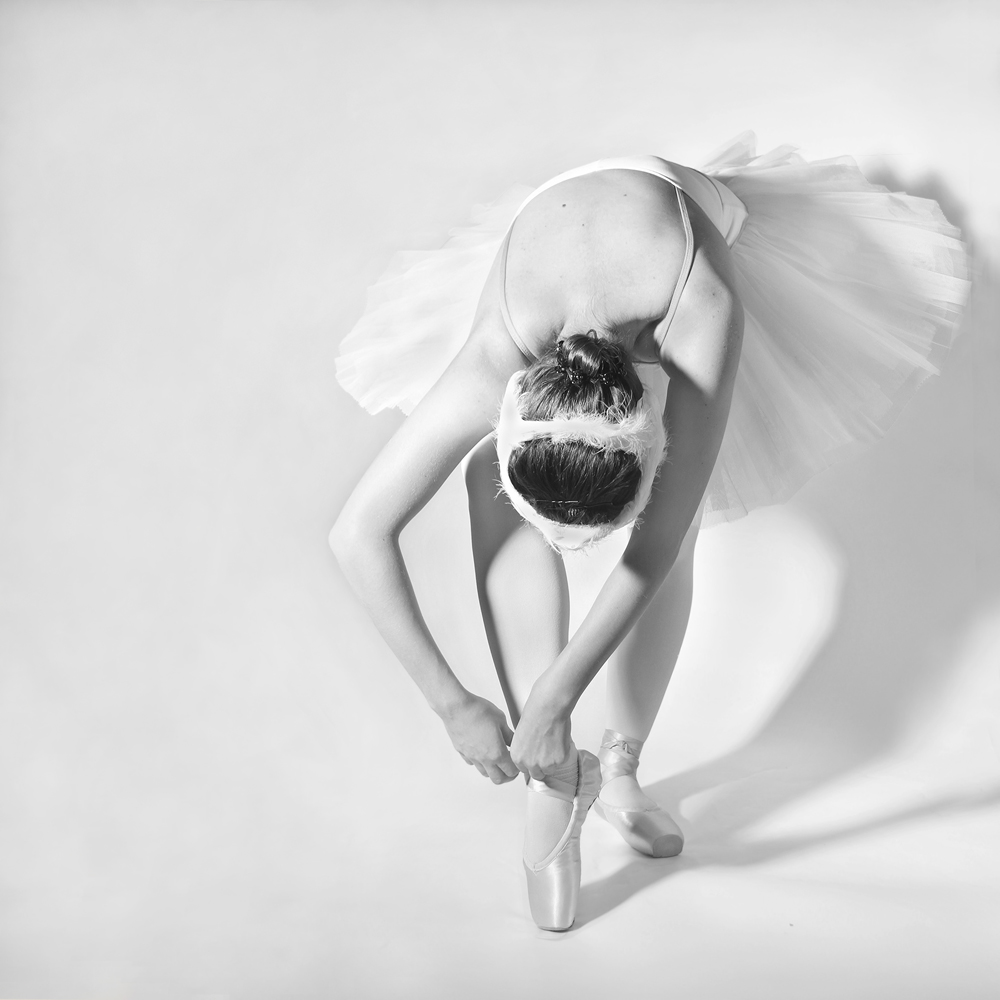 A piece of fine art art photography titled Like a Swan by Ewa Nagadowska