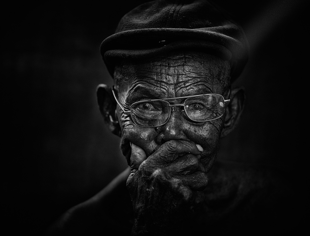 A piece of fine art art photography titled Mr X by Andi Halil
