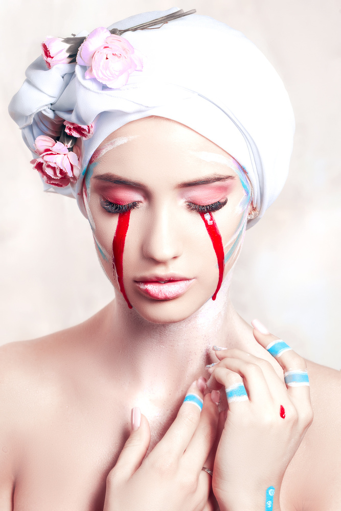 A piece of fine art art photography titled Her Eyes Were Bleeding but They Could Only See the Tears by Ruslan Bolgov (Axe)
