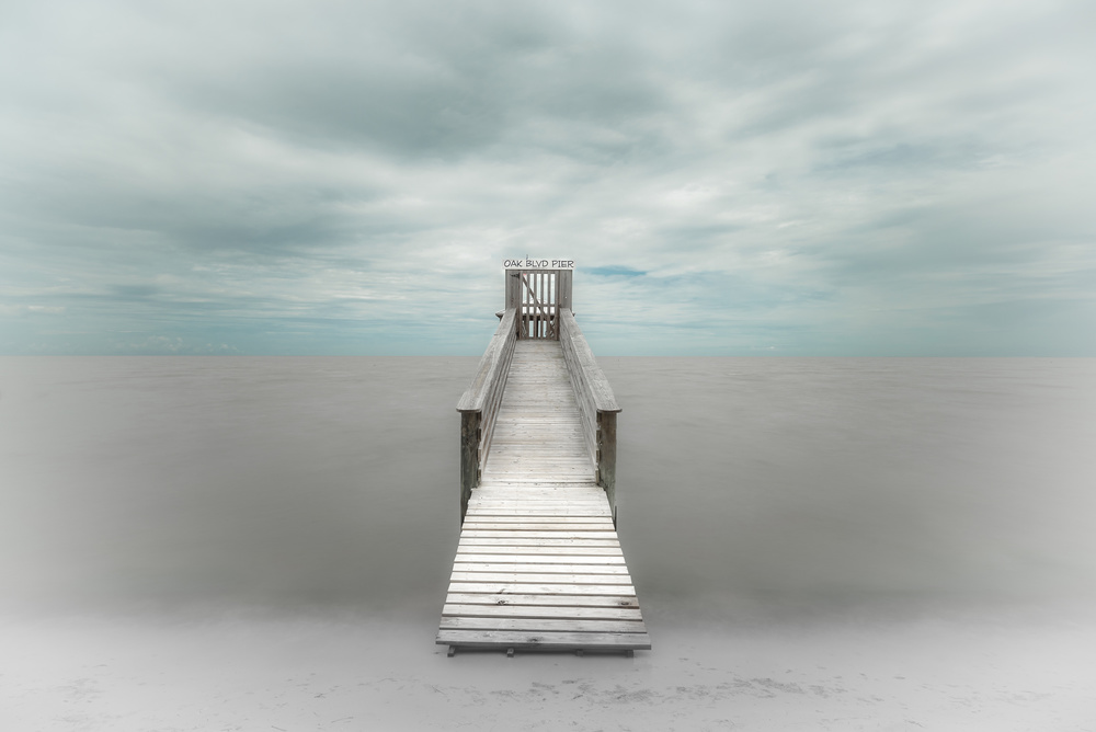 A piece of fine art art photography titled Pier by Martin Steeb