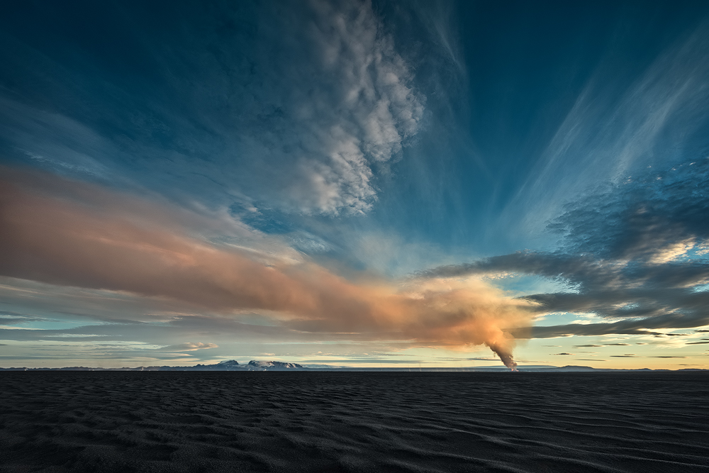 A piece of fine art art photography titled Holuhraum Eruption by Raymond Hoffmann