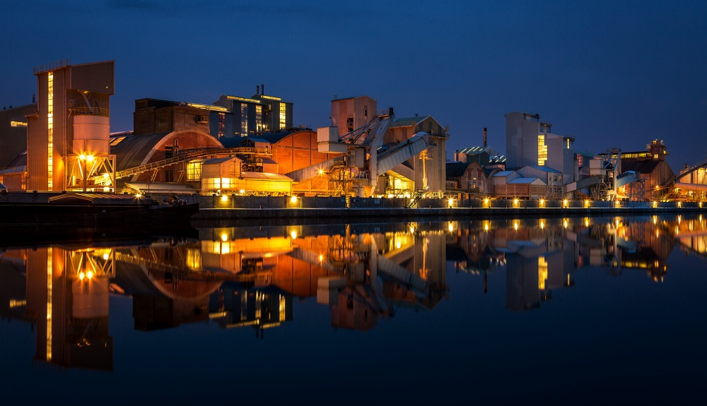 A piece of fine art art photography titled Industry Lights by Sus Bogaerts