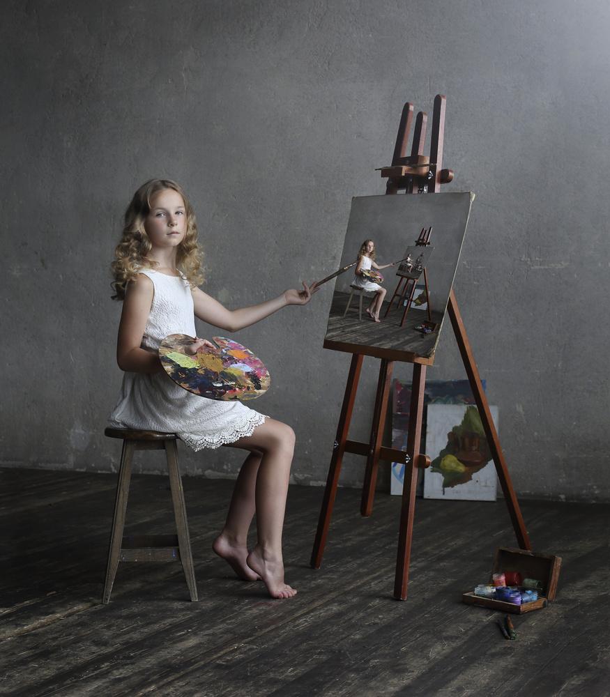 A piece of fine art art photography titled Endless Art by Victoria Ivanova