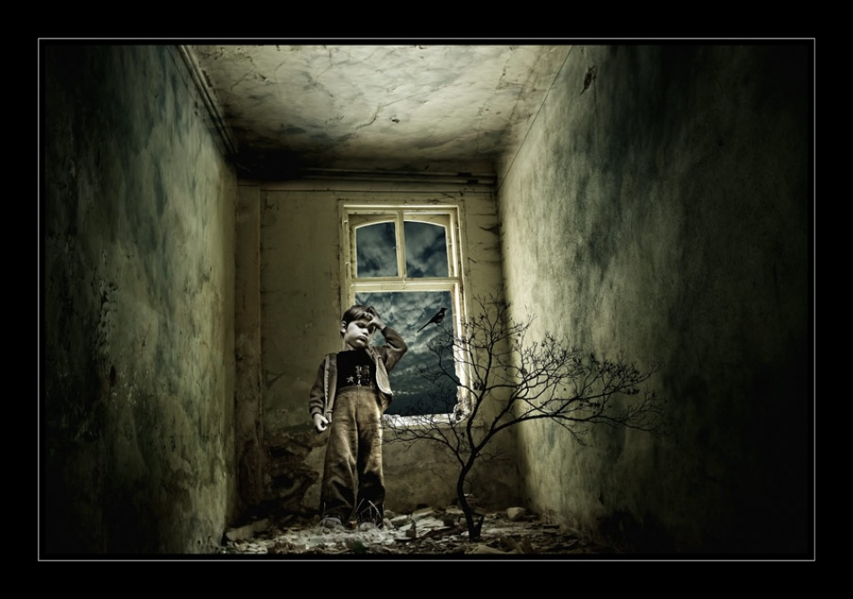 A piece of fine art art photography titled Inside His Mind by george gradinaru