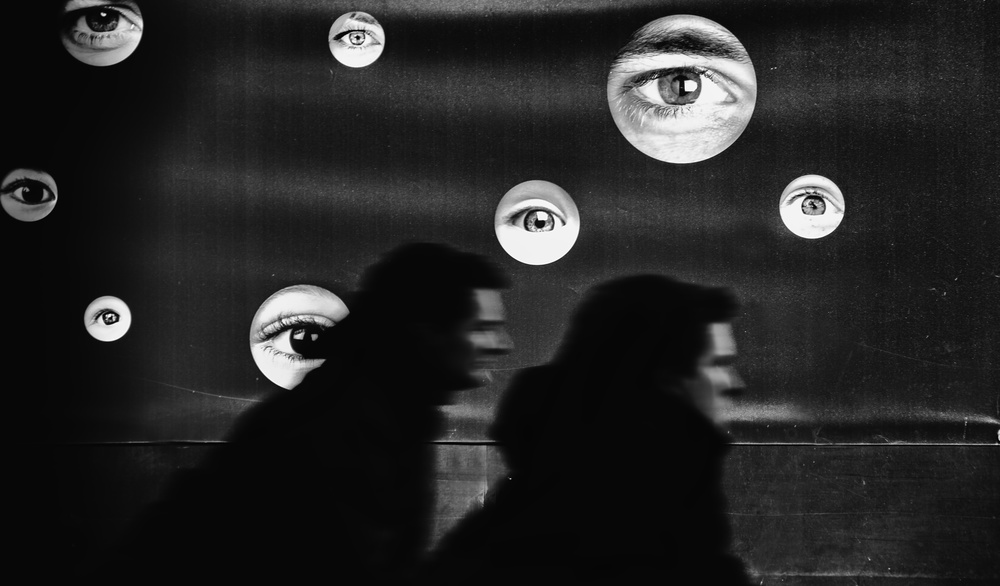 A piece of fine art art photography titled You're Being Watched by Jef Flour