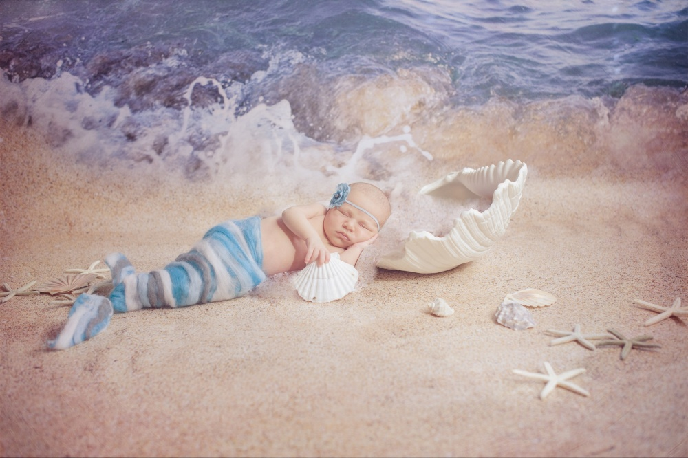 A piece of fine art art photography titled Little Mermaid by Abendstern