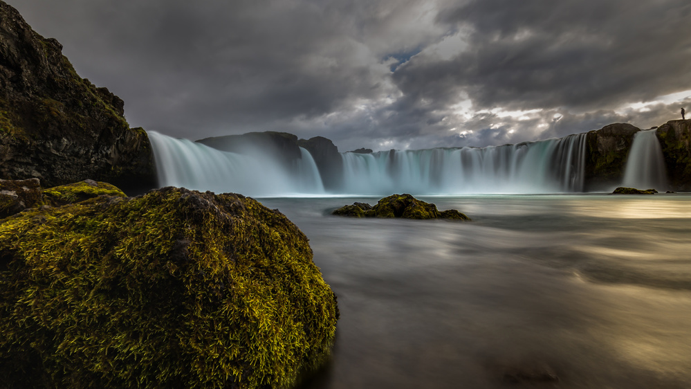 A piece of fine art art photography titled Iceland - at the Godafoss by Michael Jurek