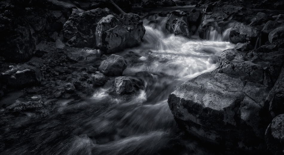 A piece of fine art art photography titled Mountain Creek by Norbert Maier