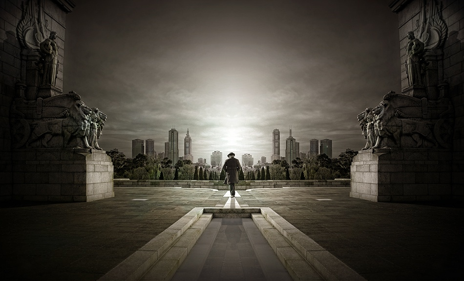 A piece of fine art art photography titled Guardians of the City by Adrian Donoghue