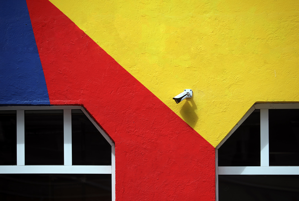 A piece of fine art art photography titled Freshly Painted by Hans-Wolfgang Hawerkamp