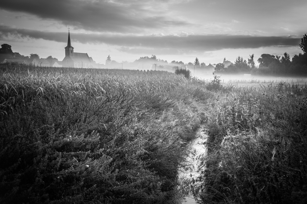 A piece of fine art art photography titled My Mysterious Town by Eddy Verloes